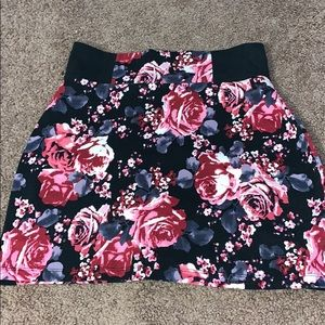 No Boundaries Floral Mini Skirt